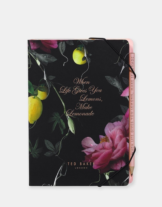 TED BAKER A5 ノート+鉛筆セット 付箋付き