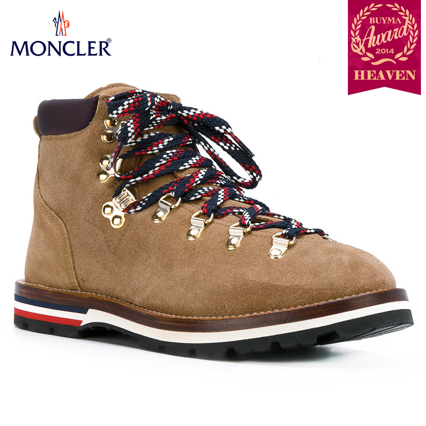 TOPセラー賞受賞!17/18秋冬┃MONCLER★LACE UP BOOTS_ブラウン