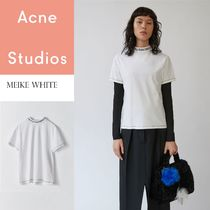 [Acne] Meike overdyed logo t-shirt アクネロゴネック Tシャツ