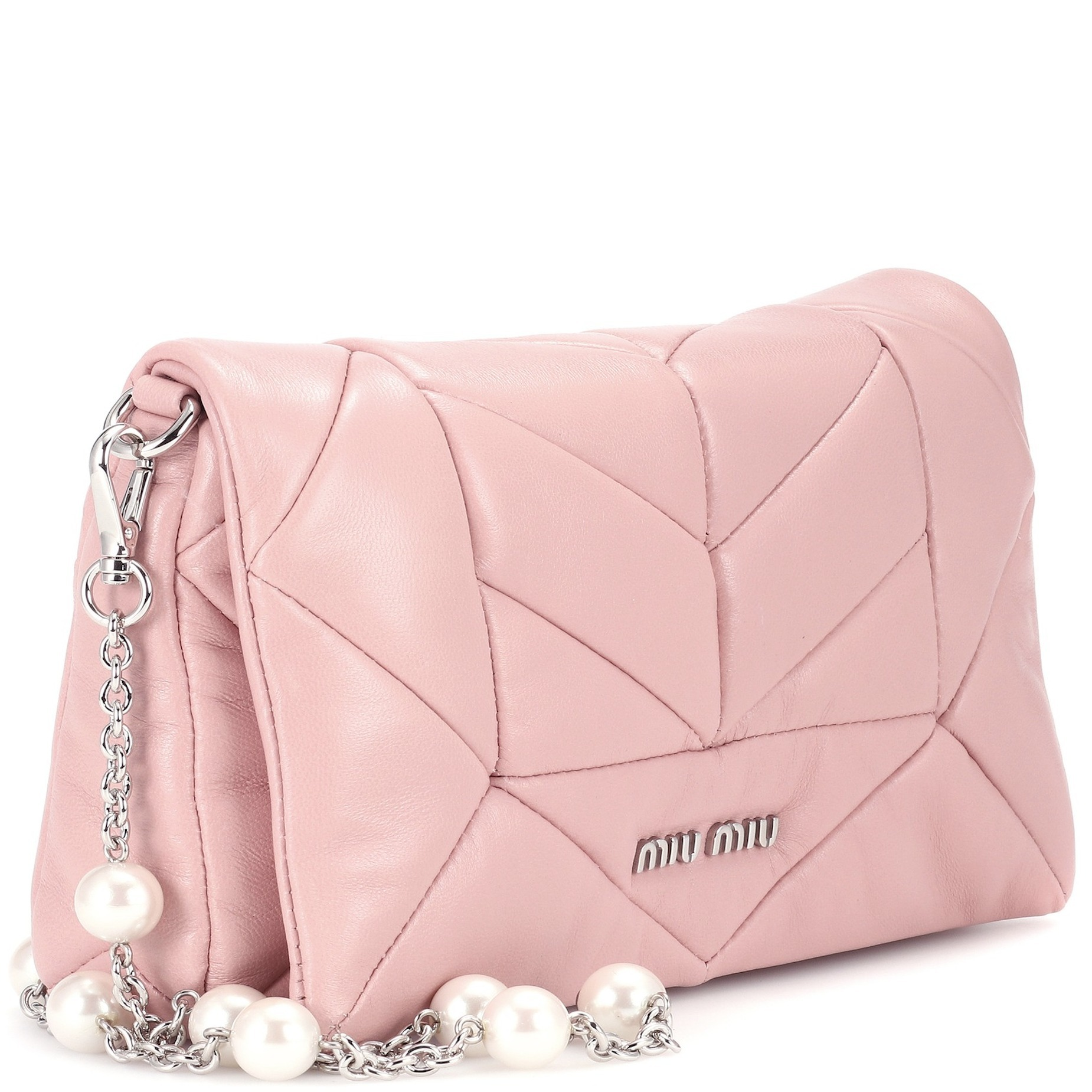 MM337 QUILTED NAPPA LEATHER SHOULDER BAG