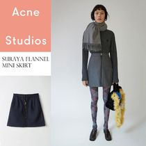 ACNE Suraya Flannel high waist skirt フランネルミニスカート