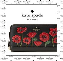 Kate Spade 2017A&W最新作!ポピーが素敵な長財布*poppy applique