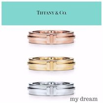 【Tiffany & Co】TIFFANY T Two Narrow Ring in 18k Gold