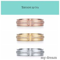 【Tiffany & Co】TIFFANY T Two Narrow Ring with Diamonds