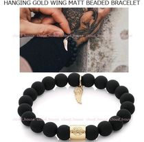送料込【Chained&Able】HANGING GOLD WING MATT BEADED BRACELET