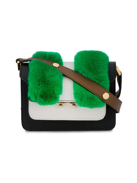 即完売!small Trunk rabbit fur shoulder bag バッグ