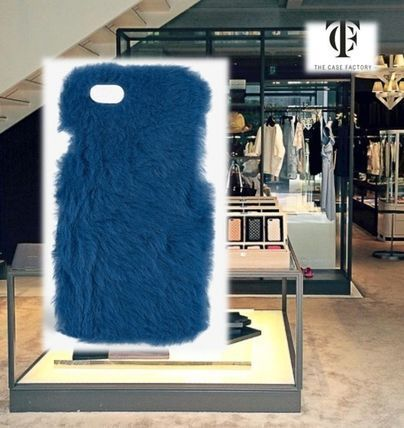 THE CASE FACTORY スマホケース・テックアクセサリー THE CASE FACTORY★IPHONE 7 FUR PRINCESS BLUE