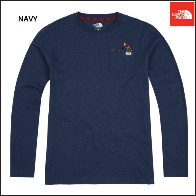 【日本未入荷】THE NORTH FACE ANTONE POCKET L/S R/TEE (NAVY)