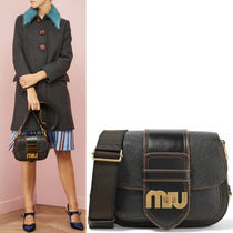 MM339 LOGO EMBELLISHED DAHLIA SHOULDER BAG