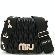 MM340 LOGO EMBELLISHED MATELASSE SHOULDER BAG