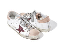 【関税負担】GOLDEN GOOSE SUPERSTAR WHITE/PINK NABUK
