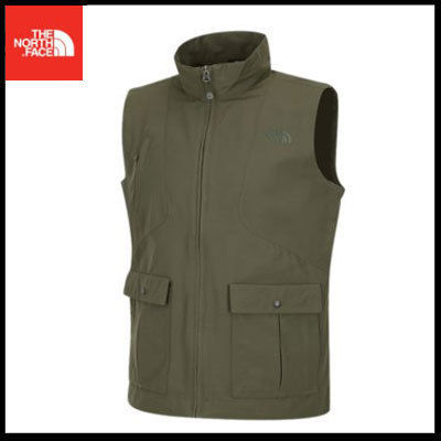 (ザノースフェイス) M'S MULTI POCKET VEST DARKOLIVE NFV3BG50