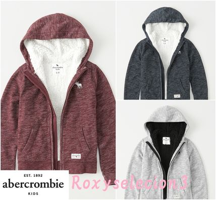 Abercrombie & Fitch トップス 【Abercrombie Kids】sherpa-lined icon hoodie もこもこ☆Boys