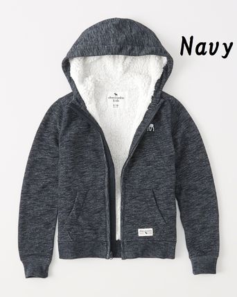 Abercrombie & Fitch トップス 【Abercrombie Kids】sherpa-lined icon hoodie もこもこ☆Boys(3)