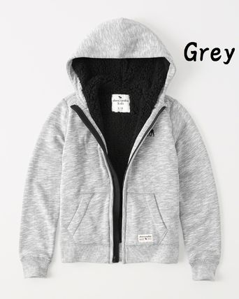 Abercrombie & Fitch トップス 【Abercrombie Kids】sherpa-lined icon hoodie もこもこ☆Boys(5)