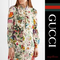 【国内発送】GUCCI 花柄ドレス silk crepe de chine mini dress