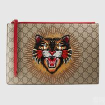 GUCCI アングリーキャット クラッチ/ポーチ RED 476411 9CO3G
