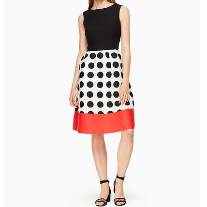 SALE ☆Kate spade☆ grid dot colorblock dress  ワンピース