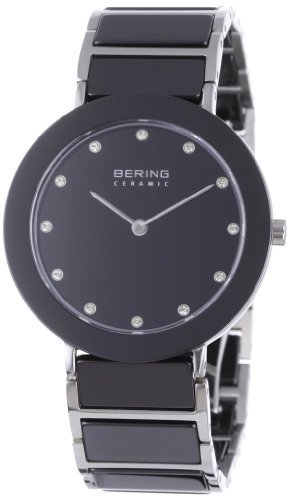 腕時計 Bering Time 11435-749 Ladies Ceramic Black Silver Wat