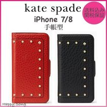 kate spade◆手帳型レザー◆iPhone 7◆embellished wrap folio