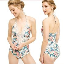Lace-Front Maillot ワンピース水着 ヴィンテージフローラル