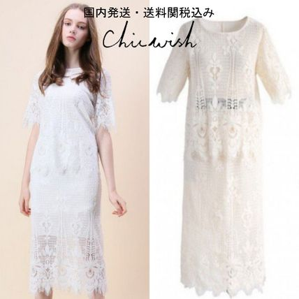 Chicwish セットアップ 国内発・送関込☆Chicwish☆Baroque Met Lace Top and Skirt Set