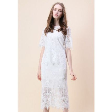 Chicwish セットアップ 国内発・送関込☆Chicwish☆Baroque Met Lace Top and Skirt Set(2)
