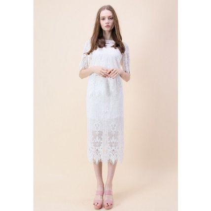 Chicwish セットアップ 国内発・送関込☆Chicwish☆Baroque Met Lace Top and Skirt Set(3)