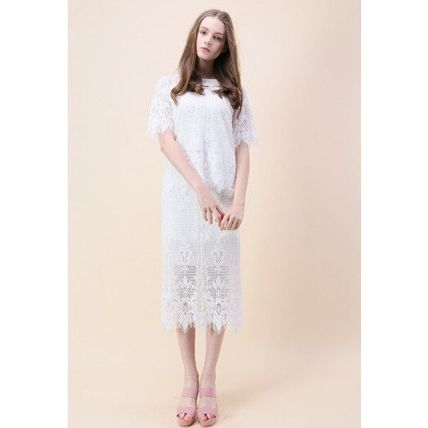 Chicwish セットアップ 国内発・送関込☆Chicwish☆Baroque Met Lace Top and Skirt Set(4)