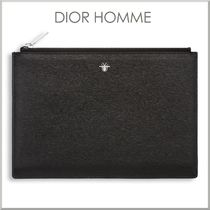 17-18AW★DIOR HOMME ビー シグニチャー レザー クラッチバッグ