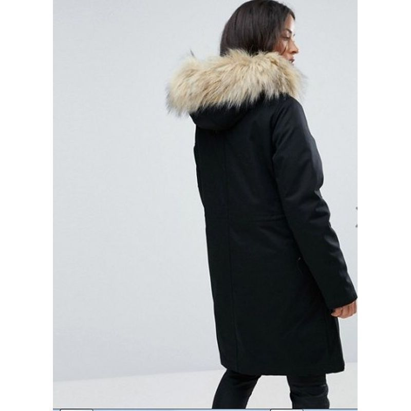 【ASOSエイソス】 MATERNITY Parka with Detachable Faux Fur