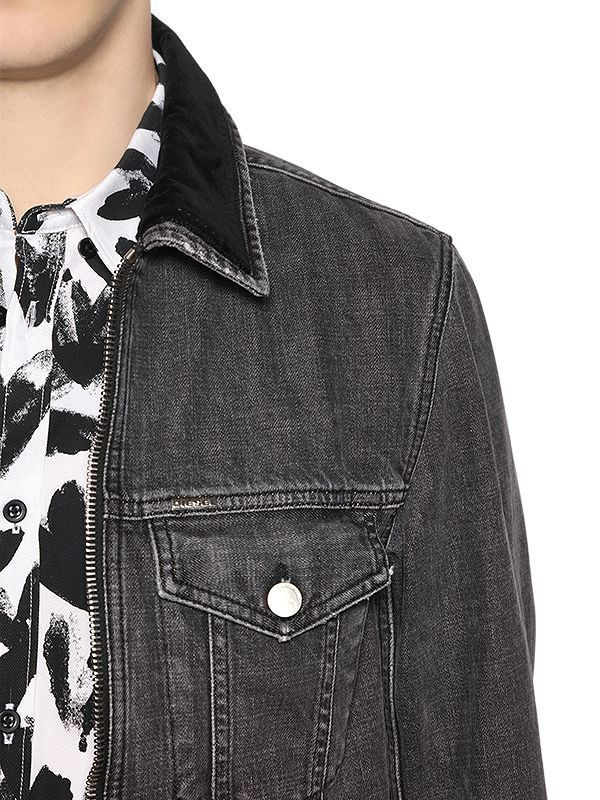 ディーゼル STONE WASHED DENIM TRUCKER JACKET