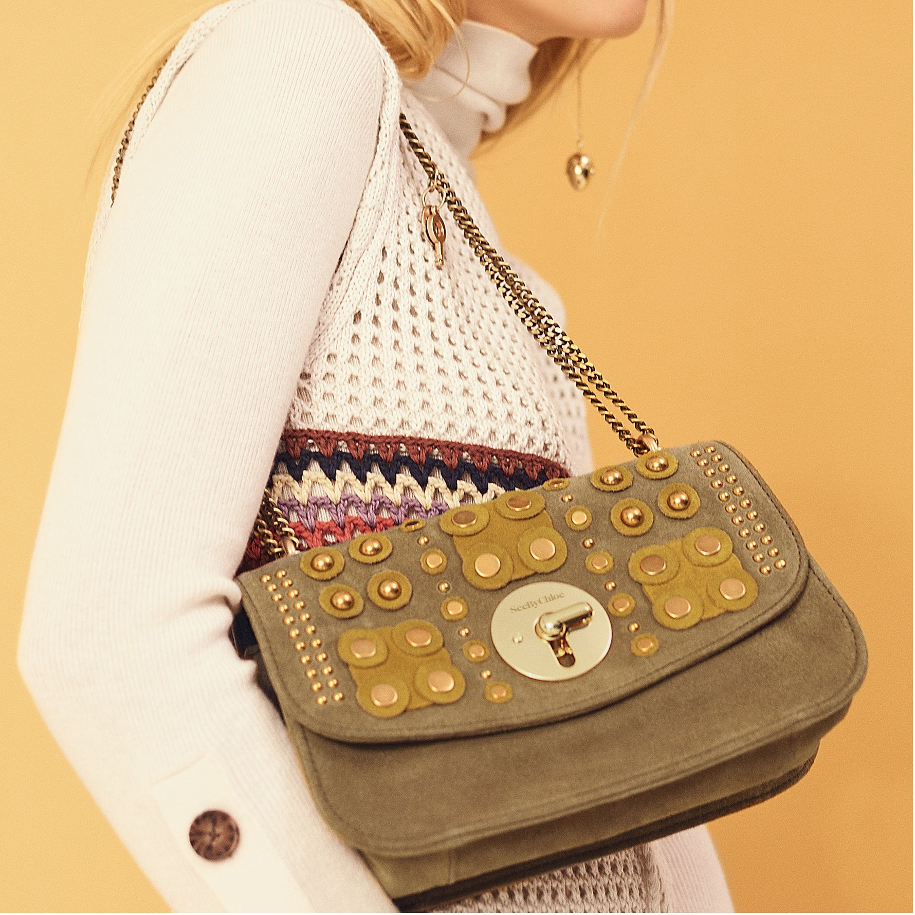 【17AW】See by Chloe★大人気 Lois メタル装飾★Olive