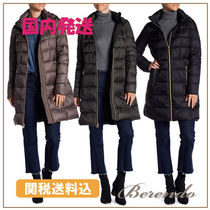 国内発送◆Michael Kors フード付 Quilted Long Hooded Jacket