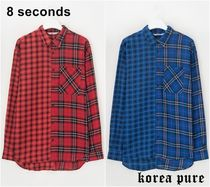 8 SECONDS(エイトセカンズ) シャツ 韓国で大人気! 【8SECONDS】Two Check Detail Shirt / 2color
