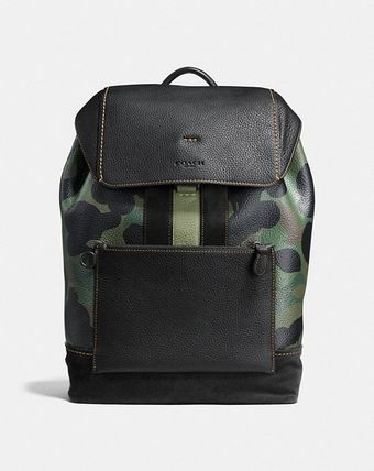 関税負担Manhattan Backpack In Wild Beast Pebble Leather