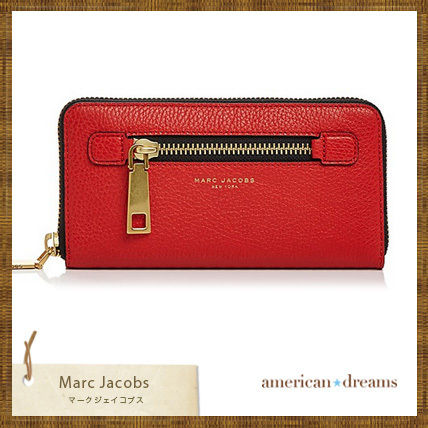 SALE! marc jacobs【マークジェイコブス】  レザー 長財布 RED