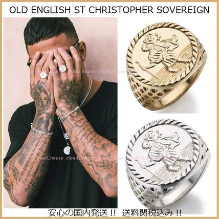Chained & Able 指輪・リング 【Chained&Able】OLD ENGLISH ST CHRISTOPHER SOVEREIGN(2色)