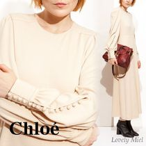 【送料関税込】Chloeクロエ Sweet Ivory Wool Jersey Long Dress