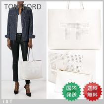 TOM FORD TOTE DAY BAG トムフォード TFロゴ トートバッグ White