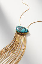 【Anthropologie】新作!お洒落Turquoise Chainedネックレス