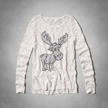 moose intarsia graphic sweaterrがキュート