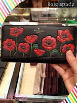 kate spade★ooh la la poppy applique lacey★ポピー長財布