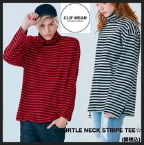 CLIF WEAR(クリフウェア) Tシャツ・カットソー ★イベント/関税込★CLIF WEARのTURTLE NECK STRIPE TEE 全2色