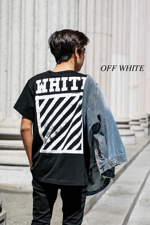 Off-White BRUSHED DIAGONALS Tシャツ!送料関税込み