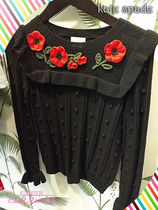 Kate spade★poppy embroidered sweater★ポピー付きセーター