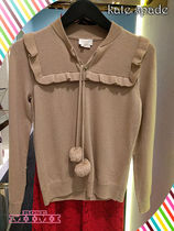 Kate spade★wool cashmere pom sweater★ボンボン付きセーター