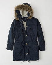 【Abercrombie & Fitch】SHERPA-LINED TWILL PARKA