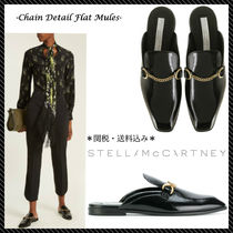 関税込♪Stella McCartney☆新作 Chain Detail Mules ブラック☆