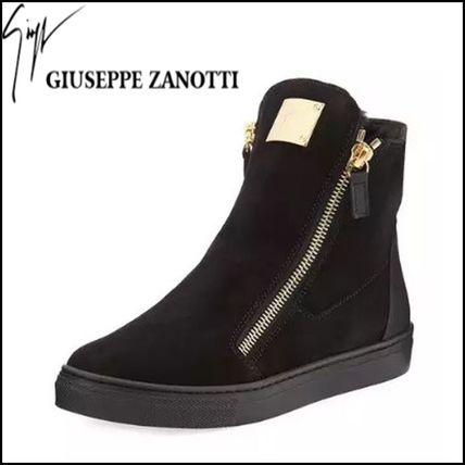 GIUSEPPE ZANOTTI キッズスニーカー 【GIUSEPPE ZANOTTI】 Girls London Laceless Suede High-Top
